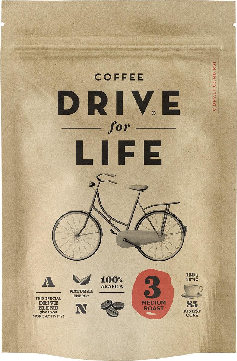 Drive for Life Medium кофе сублимированный, 150 г0120710Кофе натуральный растворимый сублимированный Drive for Life Medium - специально подобранные сорта Бразильской и Колумбийской Арабики, при обжарки которых вырабатывается натуральный кофеин высокого качества. Улучшает внимание, память и обеспечивает энергией на длительное время. Вкус сбалансированный, послевкусие мягкое.