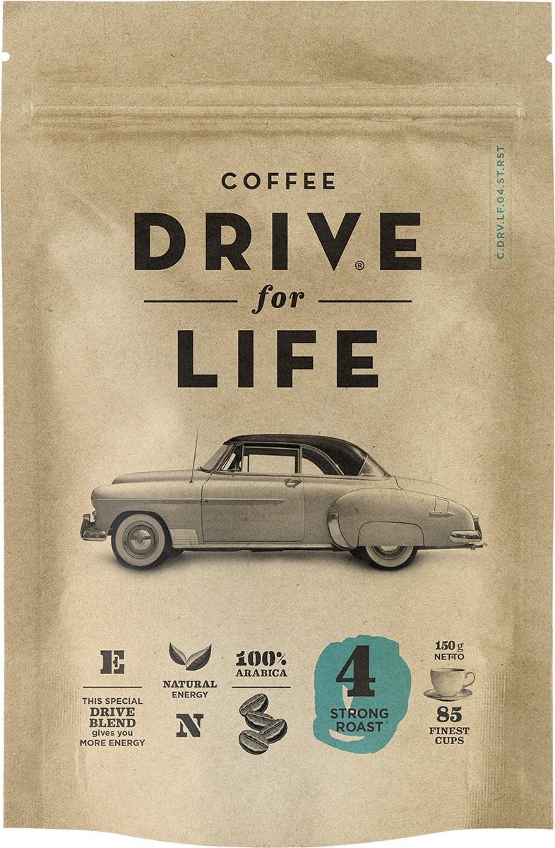 Drive for Life Strong кофе сублимированный, 150 г0120710Кофе натуральный растворимый сублимированный Drive for Life Strong - специально подобранные сорта Бразильской и Колумбийской Арабики, при обжарки которых вырабатывается натуральный кофеин высокого качества. Улучшает внимание, память и обеспечивает энергией на длительное время. Вкус крепкий, послевкусие мягкое.