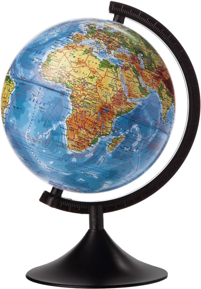 Globen Глобус Земли физический диаметр 210 мм К012100007FS-00897Глобус - уменьшенная и понятная, даже детям, модель земного шара, помогает в развитии пространственного воображения и формирования правильного мировосприятия подрастающего поколения.Глобусы Globen изготавливаются из высококачественных материалов и являются отличным наглядным пособием для школьников и студентов.