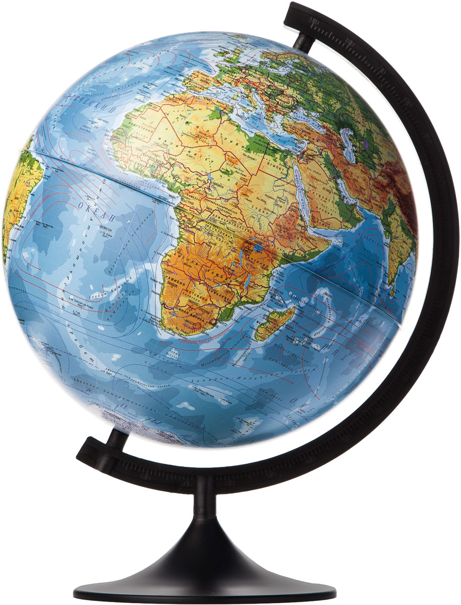 Globen Глобус Земли физический диаметр 320 ммFS-00897Глобус - уменьшенная и понятная, даже детям, модель земного шара, помогает в развитии пространственного воображения и формирования правильного мировосприятия подрастающего поколения.Глобусы Globen изготавливаются из высококачественных материалов и являются отличным наглядным пособием для школьников и студентов.