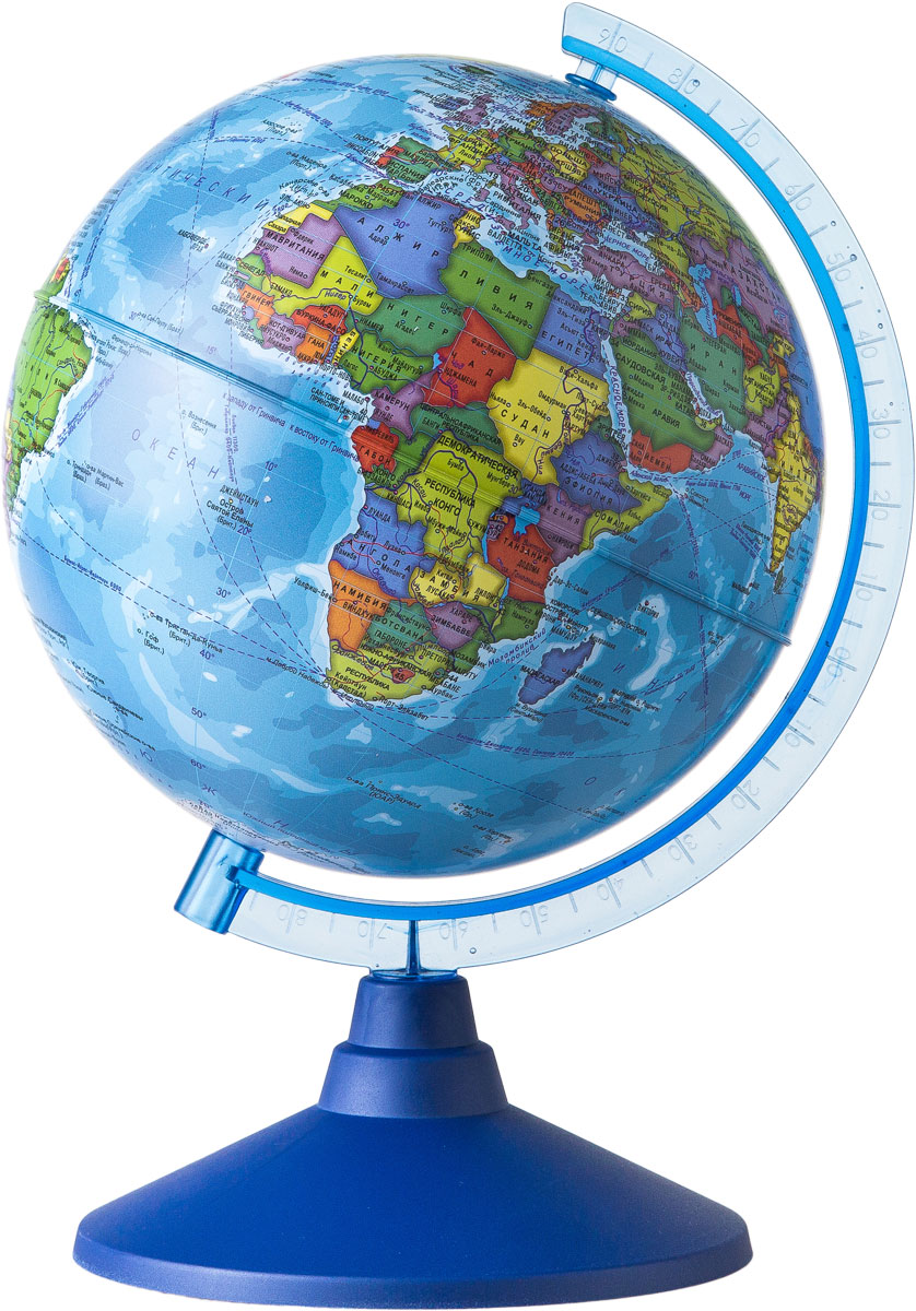 Globen Глобус Земли политический диаметр 150 ммFS-00897Глобус - уменьшенная и понятная, даже детям, модель земного шара, помогает в развитии пространственного воображения и формирования правильного мировосприятия подрастающего поколения.Глобусы Globen изготавливаются из высококачественных материалов и являются отличным наглядным пособием для школьников и студентов.