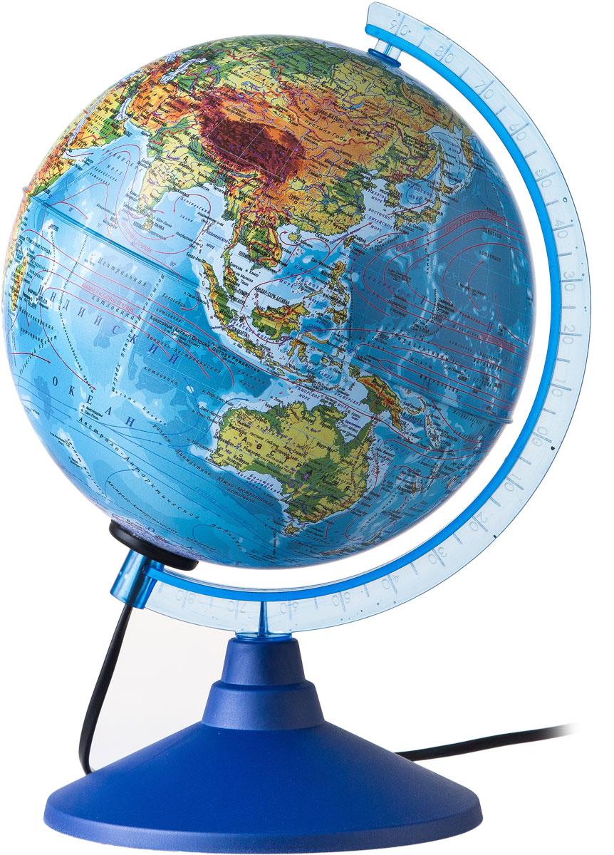 Globen Глобус Земли физико-политический с подсветкой диаметр 150 ммКе011500201Глобус - уменьшенная и понятная, даже детям, модель земного шара, помогает в развитии пространственного воображения и формирования правильного мировосприятия подрастающего поколения.Глобусы Globen изготавливаются из высококачественных материалов и являются отличным наглядным пособием для школьников и студентов. Глобус имеет функцию подсветки от электрической сети. На кабеле питания имеется переключатель.