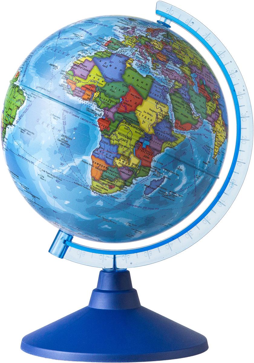 Globen Глобус Земли политический диаметр 210 мм Ке012100177FS-00897Глобус - уменьшенная и понятная, даже детям, модель земного шара, помогает в развитии пространственного воображения и формирования правильного мировосприятия подрастающего поколения.Глобусы Globen изготавливаются из высококачественных материалов и являются отличным наглядным пособием для школьников и студентов.