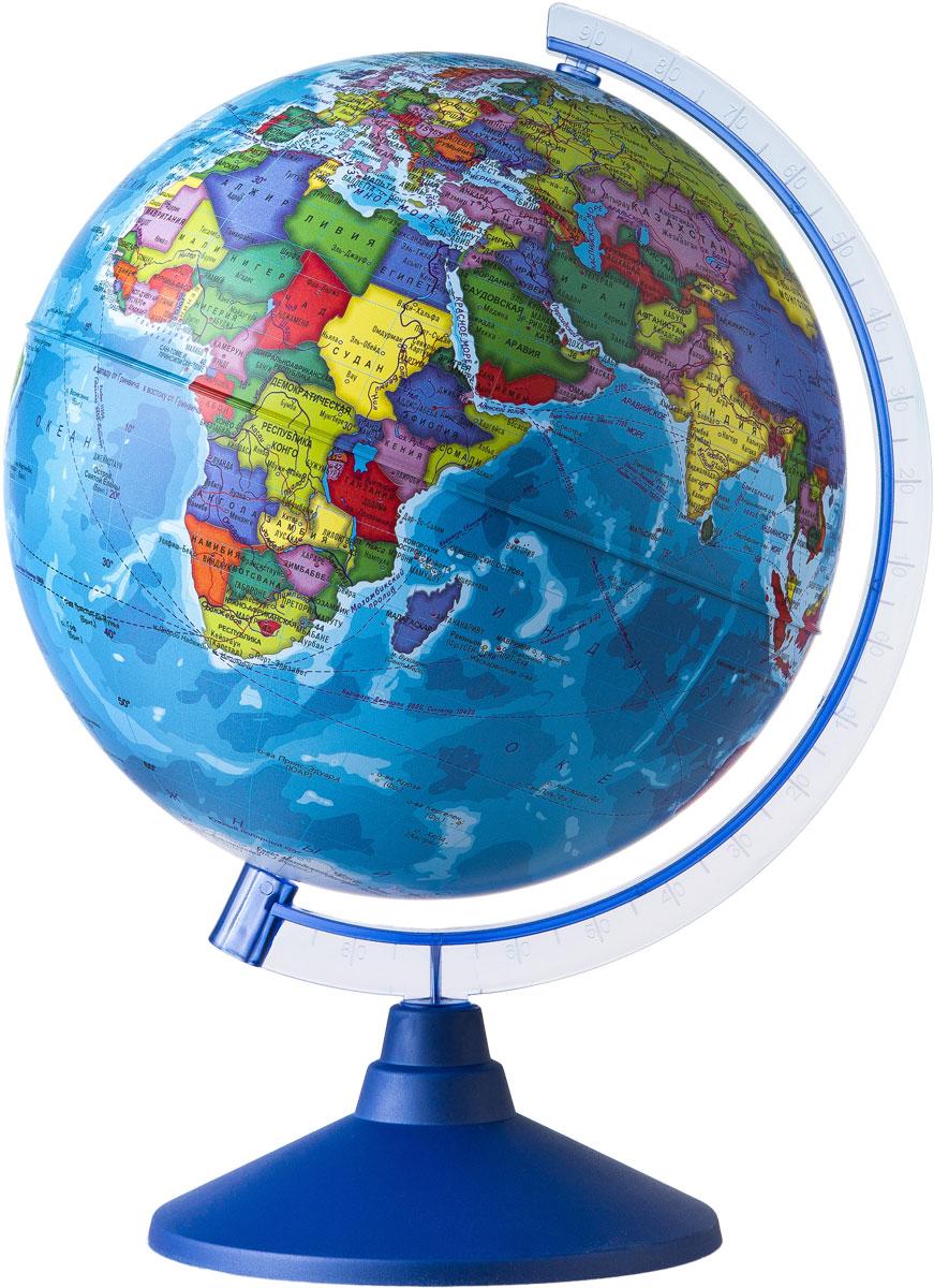 Globen Глобус Земли политический диаметр 250 мм2010440Глобус - уменьшенная и понятная, даже детям, модель земного шара, помогает в развитии пространственного воображения и формирования правильного мировосприятия подрастающего поколения.Глобусы Globen изготавливаются из высококачественных материалов и являются отличным наглядным пособием для школьников и студентов.