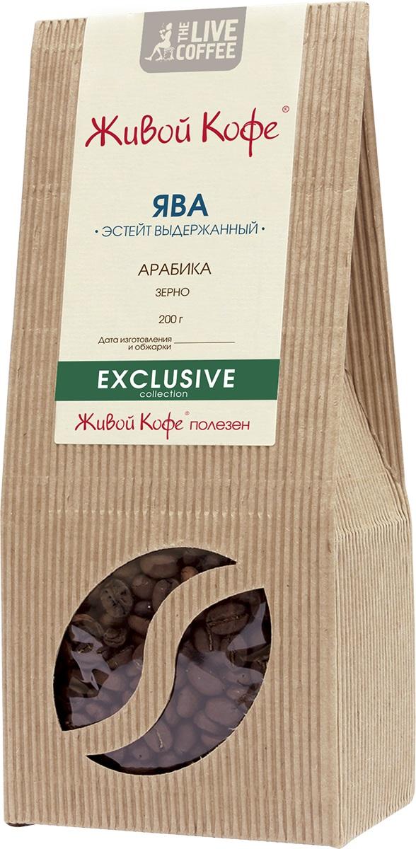 Живой Кофе Ява Эстейт Выдержанный кофе в зернах, 200 г.00000000687Живой Кофе Ява Эстейт Выдержанный - в мире выдержанный кофе. Точно так же, как в бочках выдерживают вино, собранный урожай выдерживается в известковых пещерах острова более 3-х лет. За это время зеленые зерна кофе превращаются в зеленовато-коричневые и приобретают полноту, богатство и насыщенность вкуса. Напиток отличают хорошо ощутимый приятный аромат и тона пряных плодов.