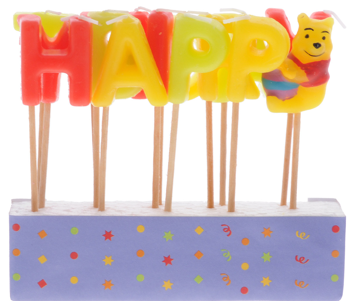 Procos Свечи-буквы для торта детские Винни Happy Birthday procos свечи буквы для торта детские винни happy birthday