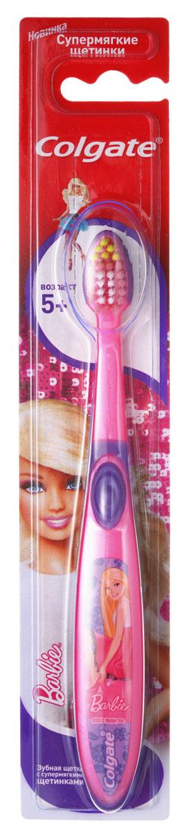 Colgate Зубная щетка Smiles Barbie Spiderman детская старше 5 лет162311_розовыйЗубная щетка для детей, у которых еще есть молочные и уже появились постоянные зубы. Разноуровневые щетинки тщательно очищают молочные и прорезывающиеся постоянные зубы. Удлиненные кончики эффективно очищают труднодоступные межзубные промежутки зубов.