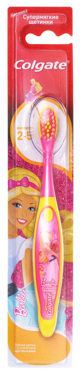 Colgate Зубная щетка Barbie/Spiderman детская от 2 до 5 лет супермягкиеSatin Hair 7 BR730MNЗубная щетка для детей, которые учатся правильно чистить зубы. Маленькая овальная головка. Супермягкие щетинки с закругленными кончиками обеспечат бережную чистку молочных зубов.
