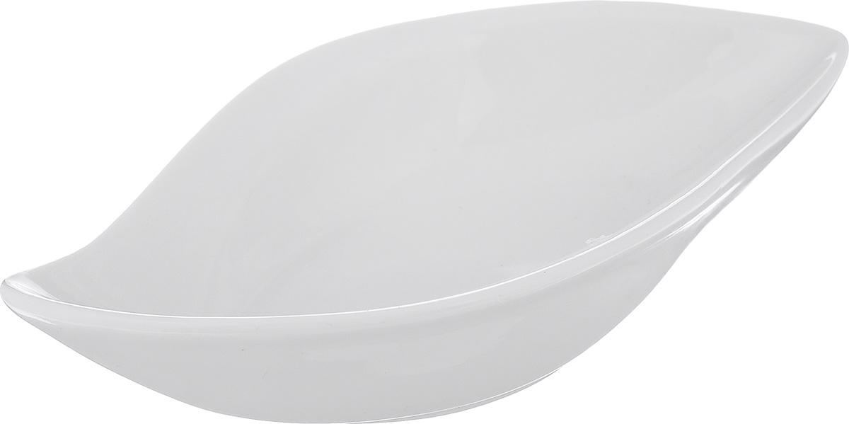 Блюдо сервировочное Walmer Classic, цвет: белый, 13 х 7,5 х 3 см блюдо сервировочное walmer shell цвет белый 17 5 х 16 х 3 см