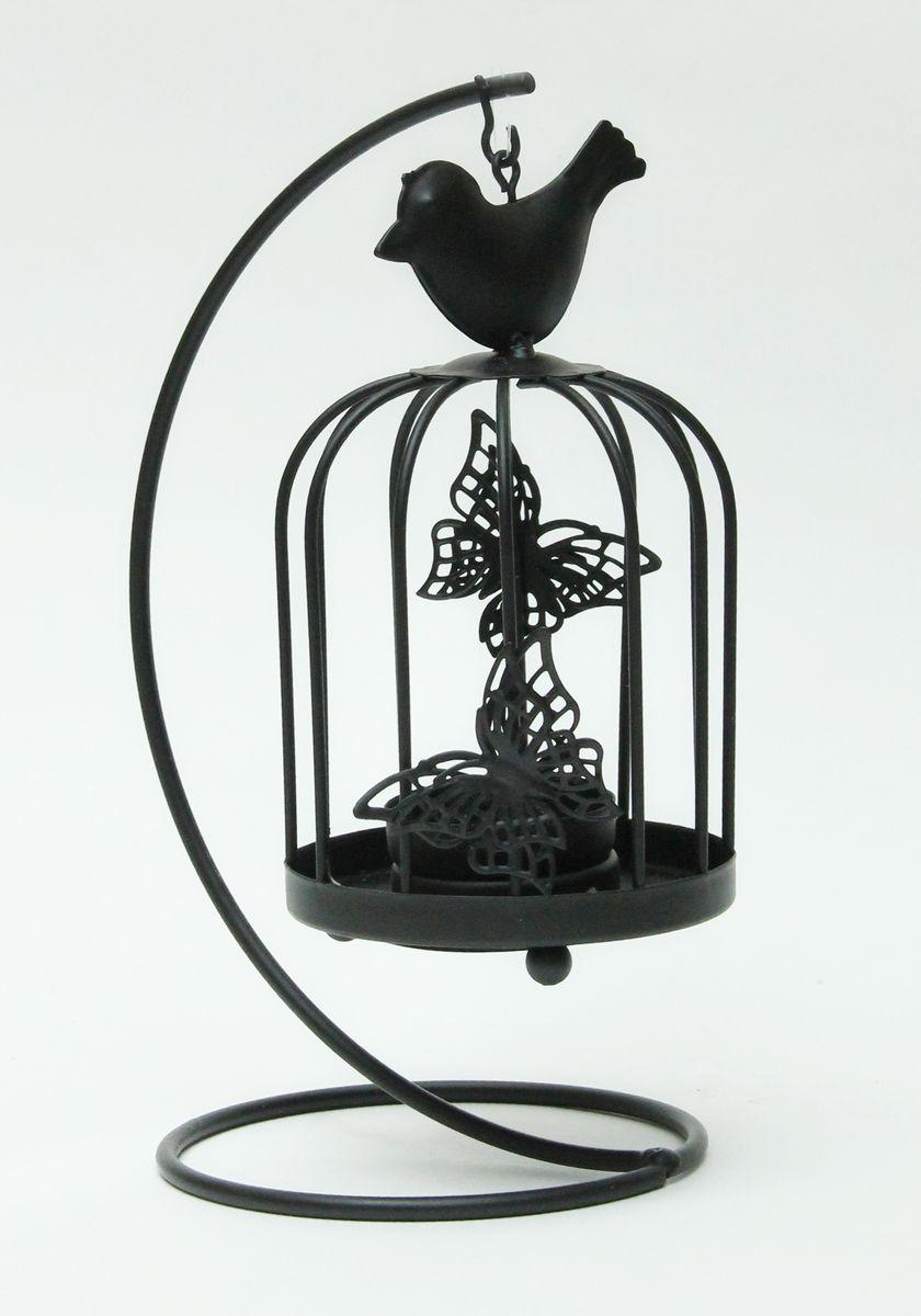 Подсвечник декоративный Феникс-Презент Клетка с черной птичкой, высота 21 смES-412Декоративный подсвечник Феникс-презент Клетка с черной птичкой, изготовленный из черного металла, станет прекрасным выбором для тех, кто хочет сделать запоминающийся подарок родным и близким. Изделие выполнено в виде клетки с птичкой и предназначено для одной свечи (свеча в комплект не входит). Кроме того, подсвечник может хорошо вписаться в интерьер вашего дома или дачи.Диаметр отверстия для свечи: 4,3 см.Размер подсвечника: 10 х 10 х 21 см.