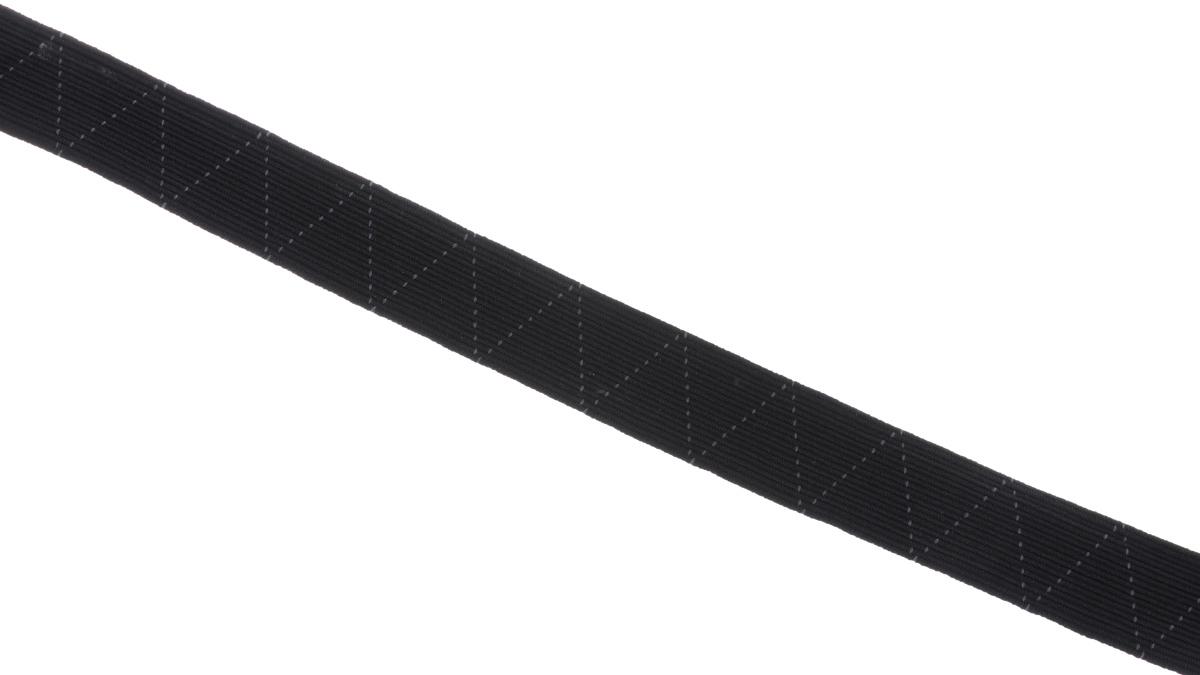 Лента эластичная Prym, стандартная, цвет: черный, ширина 2 см, длина 25 м09840-20.000.00Стандартная лента Prym - это плетеная эластичная лента с фирменным золотистым зигзагом, которая при растяжении сужается, а резиновые нити здесь расположены равномерно. Выполнена из полиэстера (65%) и эластомера (35%). Длина: 25 м.Ширина: 2 см.