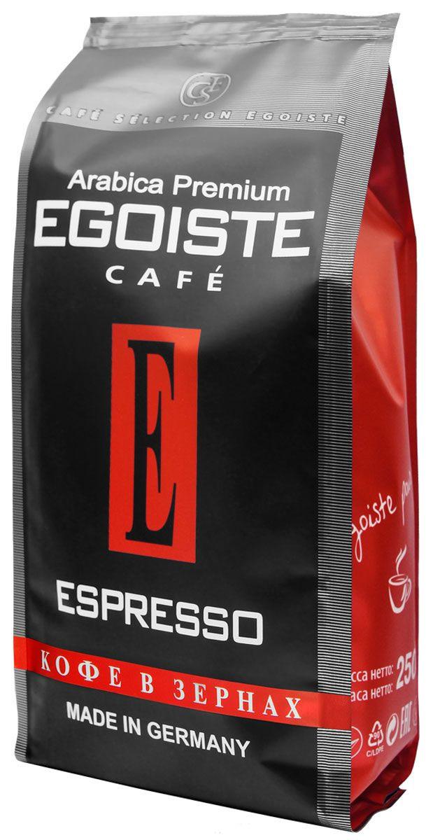 Egoiste Espresso кофе в зернах, 250 г (п/у)0120710Венская обжарка придает кофе Egoiste Espresso глубокий, насыщенный вкус настоящего итальянского эспрессо. Кофе с самым богатым ароматом, рекомендующийся для приготовления в кофеварке или кофе-машине.