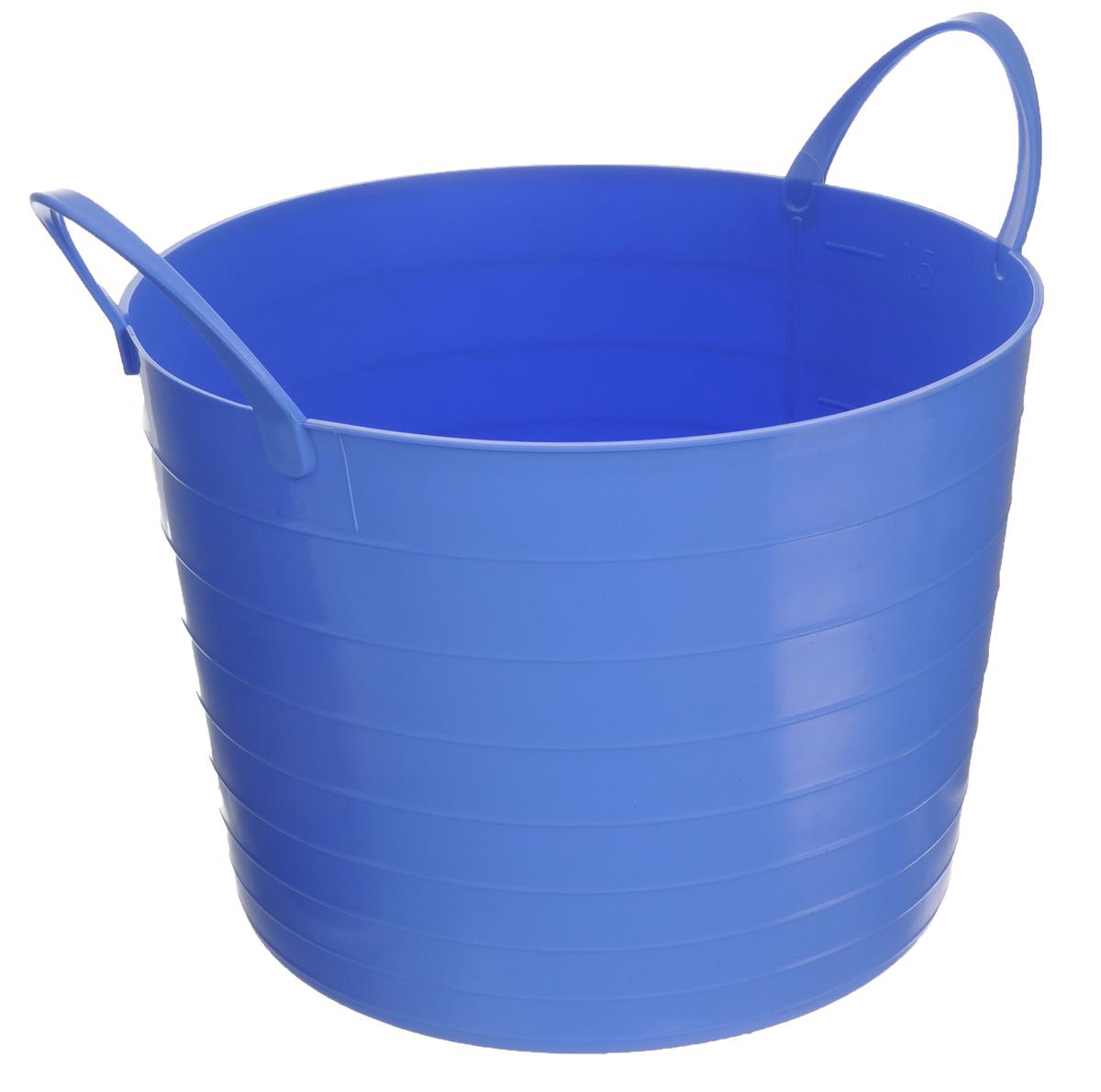 Корзина мягкая Idea, цвет: сиреневый, 17 лCLP446Мягкая корзина Idea изготовлена из гибкого полиэтилена, оснащена двумя удобными ручками. Внутренняя поверхность имеет отметки литража. Такой корзинке можно найти множество применений в быту: для строительства, для сбора фруктов, овощей и грибов, для хранения бытовых предметов и много другого. Такая корзина пригодится в любом хозяйстве.Размер (без учета ручек): 33,5 х 33,5 х 24 см.