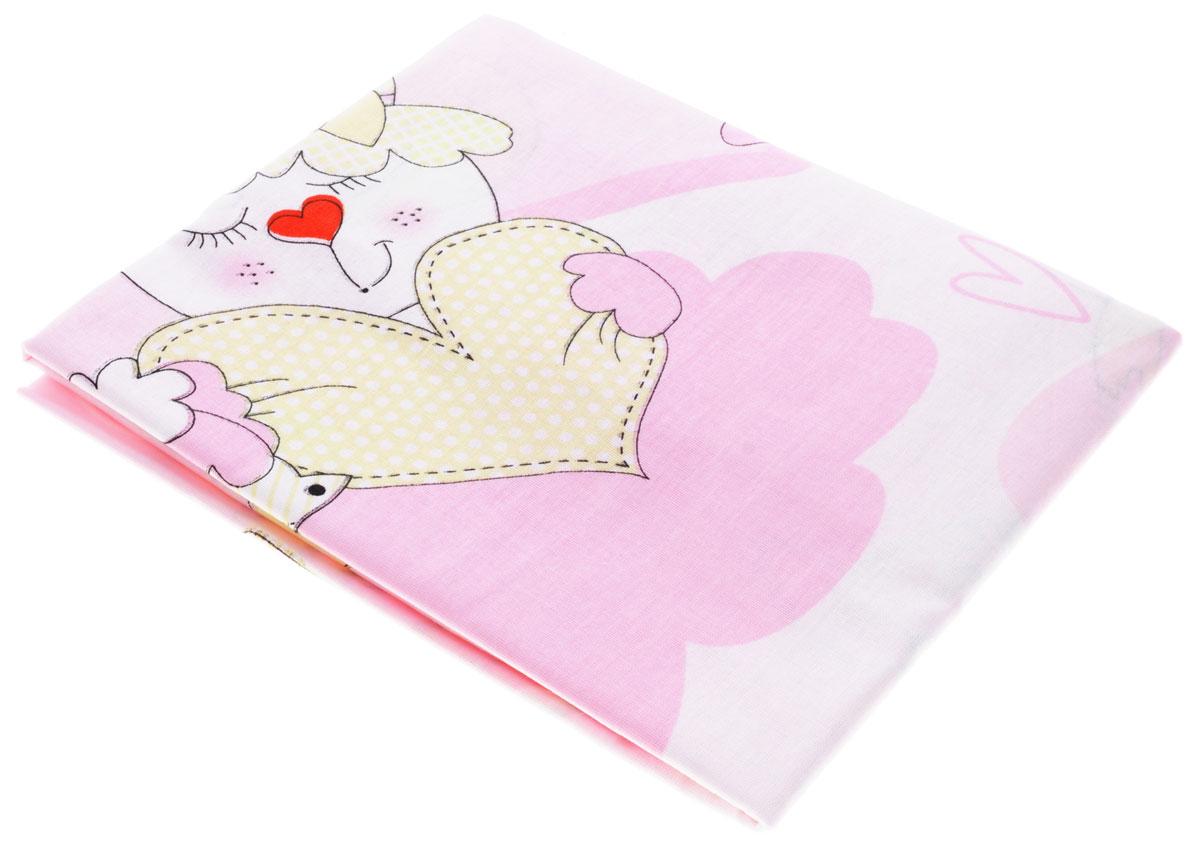 Bonne Fee Простыня детская Гномики цвет розовый 70 см х 120 см106-026Детская простыня Bonne Fee Гномики прекрасно подойдет для кроватки вашего малыша и обеспечит ему крепкий и здоровый сон. Изготовленная из натурального 100% хлопка, она необычайно мягкая и приятная на ощупь. Натуральный материал не раздражает даже самую нежную и чувствительную кожу ребенка, обеспечивая ему наибольший комфорт. Приятный рисунок простыни, несомненно, понравится малышу и привлечет его внимание.Уход: ручная или машинная стирка в воде до 40°С, при стирке не использовать средства, содержащие отбеливатели, гладить при температуре до 150°С, химическая чистка не допустима, бережный режим электрической сушки.