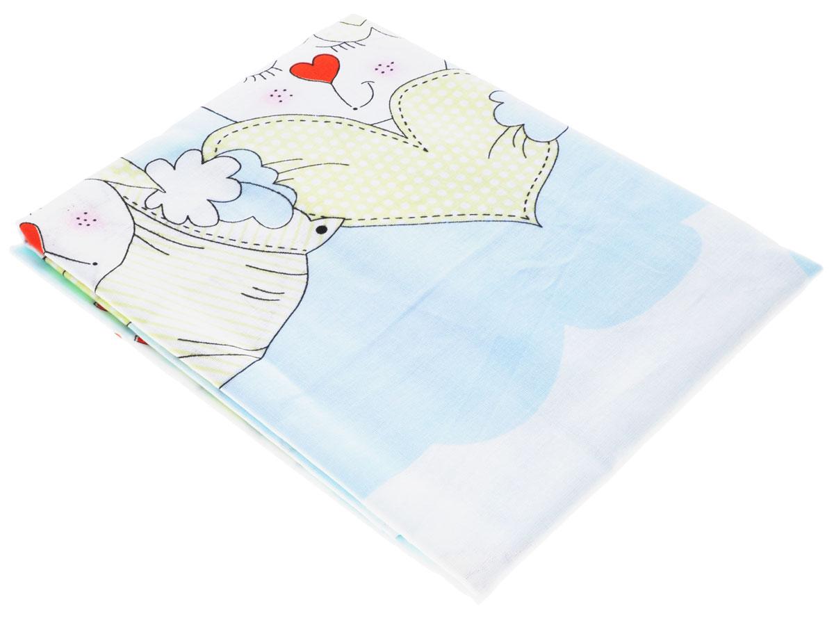 Bonne Fee Простыня детская Гномики цвет голубой 60 см х 120 смS03301004Детская простыня Bonne Fee Гномики обязательно подойдет для кроватки вашего малыша. Изготовленная из натурального 100% хлопка, она необычайно мягкая и приятная на ощупь. Натуральный материал не раздражает даже самую нежную и чувствительную кожу ребенка, обеспечивая ему наибольший комфорт. Приятный рисунок простыни, несомненно, понравится малышу и привлечет его внимание. На такой простыне ваша кроха будет спать здоровым и крепким сном.Уход: ручная или машинная стирка в воде до 40°С, при стирке не использовать средства, содержащие отбеливатели, гладить при температуре до 150°С, химическая чистка не допустима, бережный режим электрической сушки.