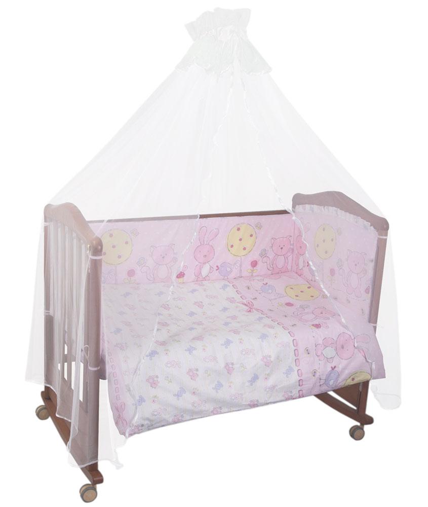 Комплект детского постельного белья Акварель, цвет: розовый, 3 предмета531-105Комплект детского постельного белья Акварель, цвет: розовый, 3 предмета