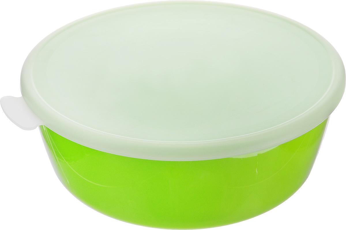 Миска Idea Прованс, с крышкой, цвет: салатовый, 2,5 л115610Миска круглой формы Idea Прованс изготовлена из высококачественного пищевого полиэтилена и полистирола. Изделие очень функциональное, оно пригодится на кухне для самых разнообразных нужд: в качестве салатника, миски, тарелки. Герметичная крышка обеспечивает продуктам долгий срок хранения.Диаметр миски: 23 см.Высота миски: 8,5 см.