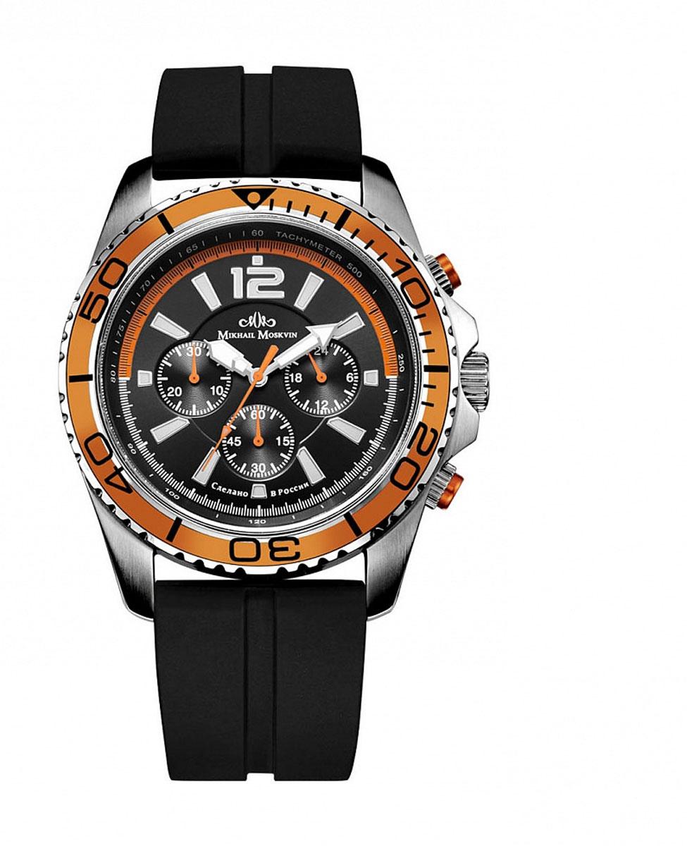 Часы наручные мужские Mikhail Moskvin, цвет: серебристый, оранжевый. 1165S0L2BM8434-58AEНаручные кварцевые часы Mikhail Moskvin выполнены из высококачественных материалов. Корпус выполнен из высококачественного металла с напылением ионами стали. Ремешок, выполненный из кожи, застегивается с помощью пряжки. Часы оснащены минеральным, устойчивым к царапинам, стеклом с сапфировым напылением и задней крышкой из гипоаллергенной нержавеющей стали.