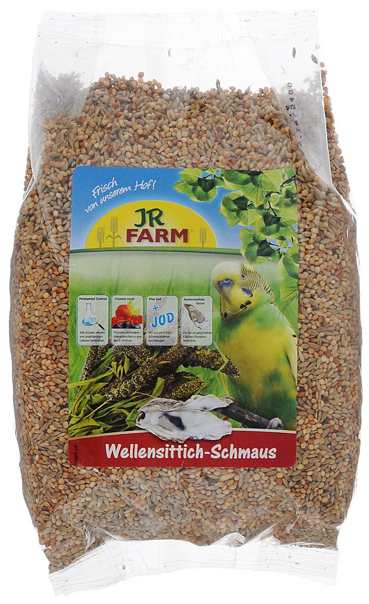 Корм для волнистых попугаев JR Farm Classic, 1 кг0120710JR Farm Classic - это полностью сбалансированный корм для волнистых попугаев. В состав добавлены раковины устриц для обеспечения кальций-фосфорного баланса, а также все необходимые витамины и микроэлементы, что гарантирует отсутствие недостатка в них. Рекомендации по кормлению: ежедневно насыпайте корм в количестве 5% от массы тела птицы. Состав: канареечное семя, Ла-Плата просо, серебряное просо, Манна просо, японское просо, сенегальское просо, плющеный овес, раковины устрицы (2 %). Основной анализ: белки 12.5 %, жиры 4.6 %, клетчатка 3.9 %, зола 3.5 %, влажность 10.2 %, кальций 0.8 %, фосфор 0.4 %. Содержание витаминов на кг: витамин А 8000 МЕ, витамин D3 1000 МЕ, витамин E 25 мг, медь (II) сульфат10 мг, йод 0.4 мг. Без искусственных красителей и консервантов. Товар сертифицирован.