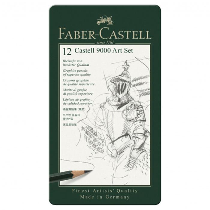 Faber-Castell Карандаш чернографитовый 12 штFS-36054Карандаши Faber Castell CASTELL 9000 119065 выполнены из чистого графита и имеют шестигранную форму. Каждый карандаш в наборе имеет штриховой код. Благодаря качеству мягкой древесины, из которой изготовлены карандаши, обеспечивается легкое затачивание. Твердость карандашей - 8B, 7B, 6B, 5B, 4B, 3B, 2B, B, HB, F, H, 2H. Вид карандаша: Простой.Твердость грифеля:8B, 7B, 6B, 5B, 4B, 3B, 2B, B, HB, F, H, 2H.Материал: дерево.