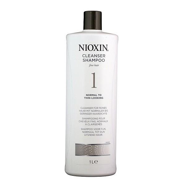 Nioxin Очищающий шампунь (Система 1) Cleanser System 1, 1000 мл830220Шампунь очищающий Система 1 Cleanser System 1 Nioxin предназначен для ежедневного применения. Средство мягко очищает кожу головы, удаляет остатки стайлинга и нейтрализует продукты внешней среды. Также шампунь от Ниоксин оздоравливает, питает и освежает кожу.