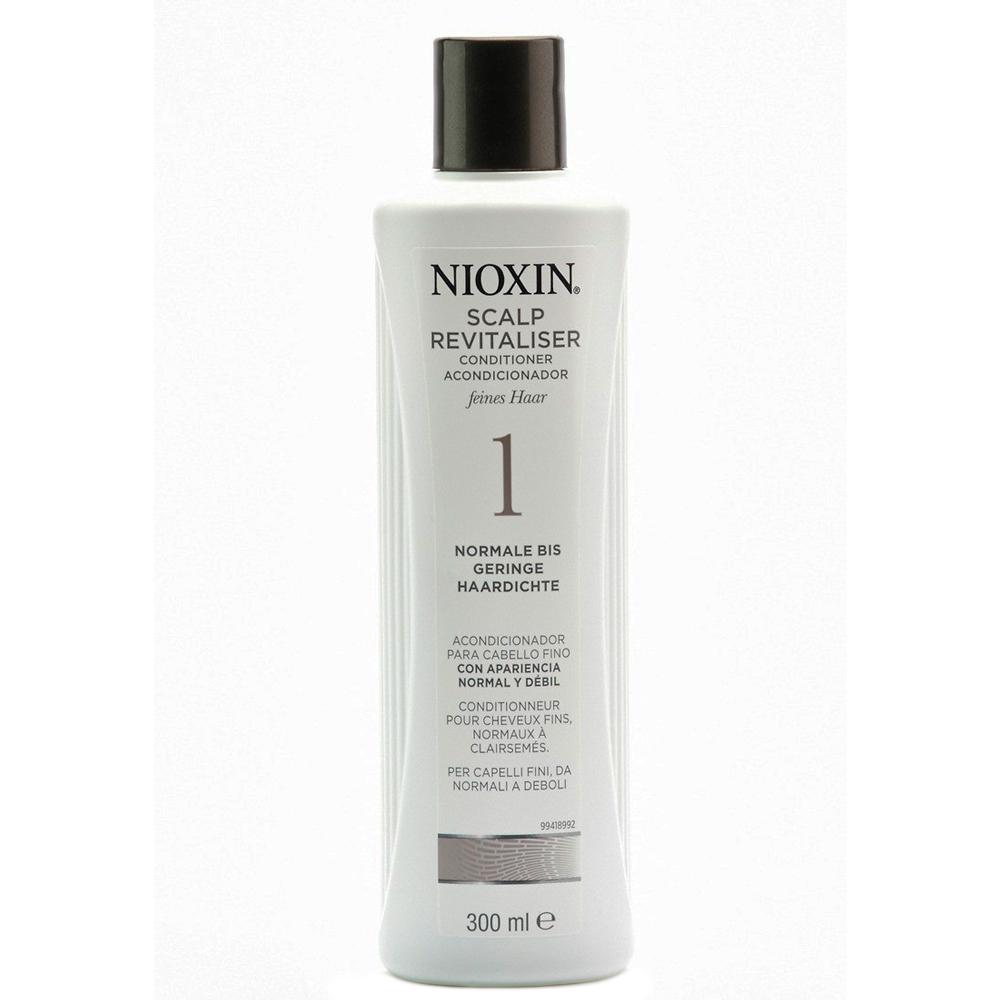 Nioxin Scalp Увлажняющий кондиционер (Система 1) Revitaliser System 1, 300 мл7206906000Увлажняющий кондиционер Nioxin Система 1 предназначен для ослабленных и тонких волос. Средство содержит питательные масла и энзимы, которые бережно ухаживают за волосами и кожей головы. Кондиционер от Ниоксин придает волосам шелковистость и смягчает кожу головы.