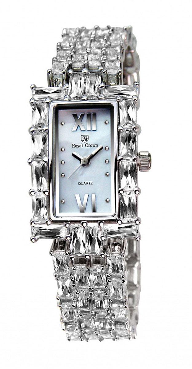 Часы наручные женские Royal Crown, цвет: серебристый. 3793-RDM-5BM8434-58AEНаручные кварцевые часы Royal Crown выполнены из высококачественного металла с напылением ионами стали и оформлены вставками из камней. Браслет оснащен удобной металлической застежкой, которая надежно зафиксирует изделие на запястье. Часы оснащены минеральным, устойчивым к царапинам, стеклом с сапфировым напылением и задней крышкой из гипоаллергенной нержавеющей стали.
