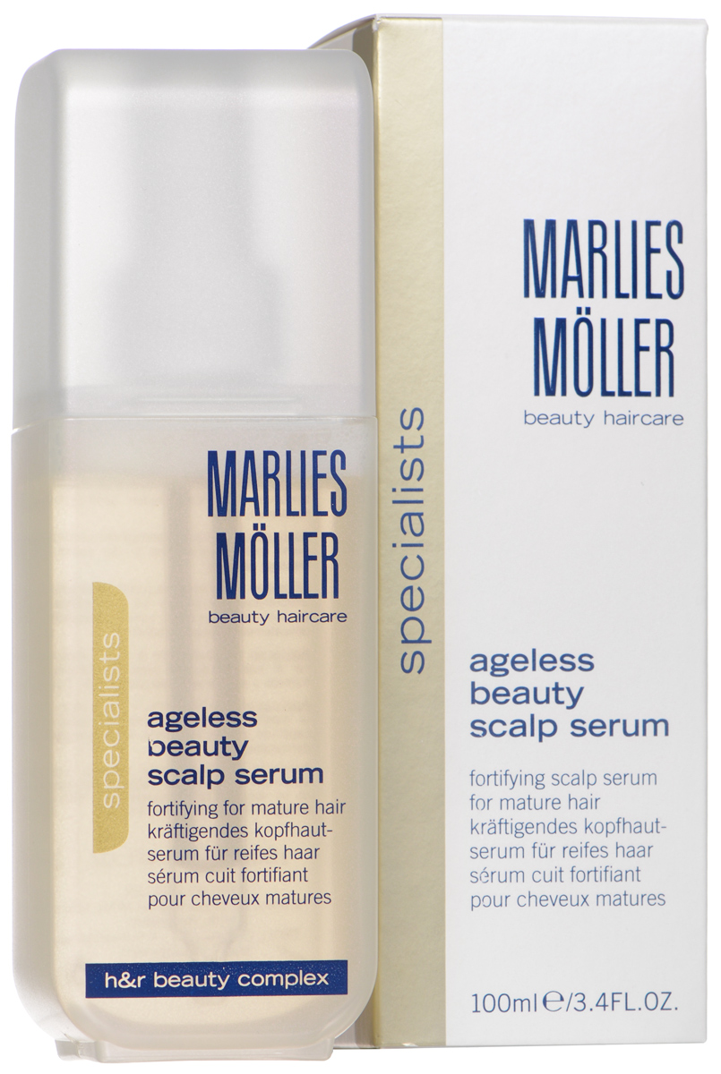 Marlies Moller Сыворотка Ageless Beauty, для укрепления корней и защиты волос, 100 млFS-00610Интенсивная сыворотка рекомендуется для истонченных волос. Содержит повышенную концентрацию эксклюзивного Фито-Клеточного комплекса, который ускоряет процесс роста здоровых волос. Стимулирует клеточную функцию корней волос, питает, наполняет их дополнительной энергией. Таким образом, усиливаются процессы регенерации и роста волос. Сыворотка стимулирует рост здоровых волос. Защищает от УФ-лучей. Интенсивно увлажняет.Ежедневно с помощью пипетки нанесите 5-6 капель сыворотки на сухую или влажную кожу головы. Слегка помассируйте. Не смывайте. Курсом.