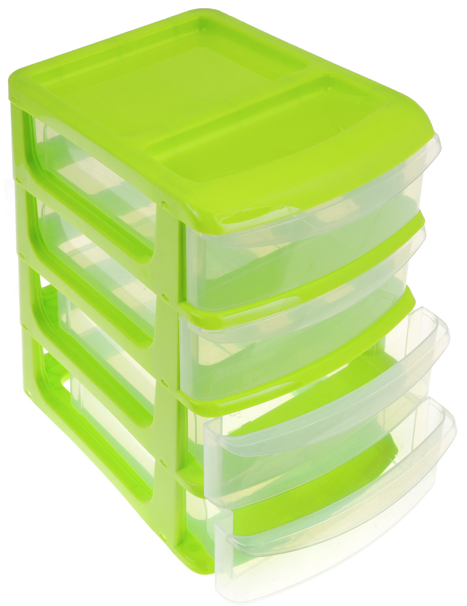 Бокс универсальный Idea, 4 секции, цвет: салатовый, прозрачный, 24 х 17 х 26,5 смМ 2766_салатовыйУниверсальный бокс Idea выполнен из высококачественного пластика и имеет четыре удобные выдвижные секции. Бокс предназначен для хранения предметов шитья, рукоделия, хобби и всех необходимых мелочей. Изделие позволит компактно хранить вещи, поддерживая порядок и уют в вашем доме.