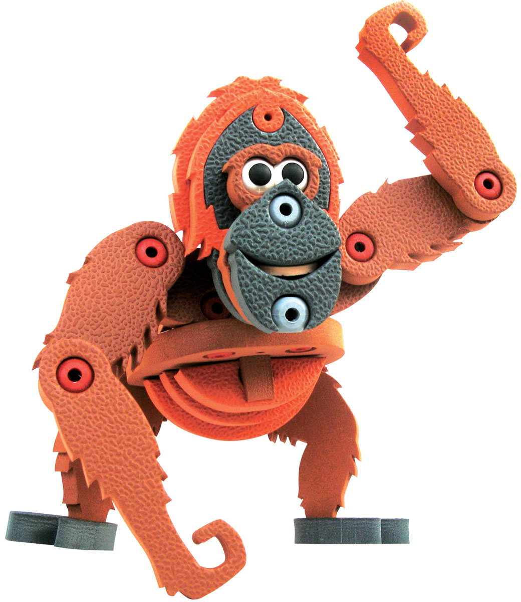 Bebelot 3D мягкий конструктор Орангутанг бластер bebelot bm 16 beb1106 050