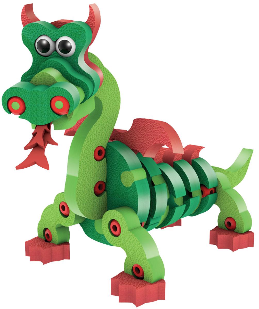 Bebelot 3D мягкий конструктор Дракон и рептилии 12 в 1 игрушка для активного отдыха bebelot захват beb1106 045