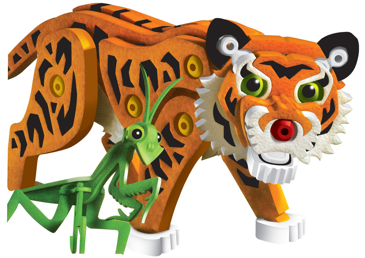 Bebelot 3D мягкий конструктор Тигр и панда игрушка для активного отдыха bebelot захват beb1106 045