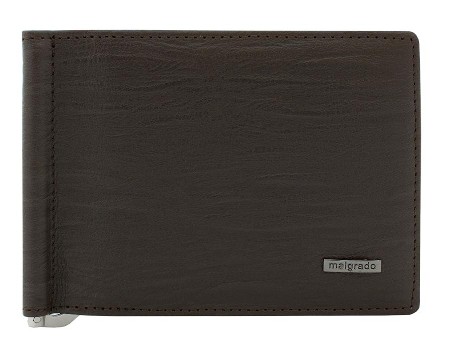 Зажим для купюр Malgrado, цвет: коричневый. 32006-3-52601W16-12123_811Зажим для купюр Malgrado выполнен из высококачественной натуральной кожи, оформлен металлической фурнитурой с символикой бренда.Изделие раскладывается, внутри расположены шесть карманов для кредитных карт, два потайных кармана и зажим для купюр.Зажим для купюр поставляется в фирменной упаковке.Оригинальный аксессуар Malgrado станет отличным подарком для человека, ценящего качественные и практичные вещи.
