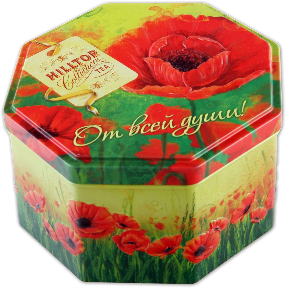 Hilltop Подарок Цейлона. Маков цвет черный листовой чай, 150 гPS108Hilltop Подарок Цейлона Маков цвет - крупнолистовой цейлонский черный чай с глубоким, насыщенным вкусом и изумительным ароматом.