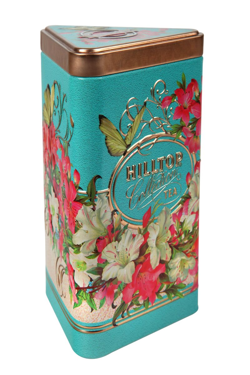 Hilltop Букет лилий зеленый листовой чай, 80 г101246Крупнолистовой зеленый чай Hilltop Букет лилий с лепестками жасмина.