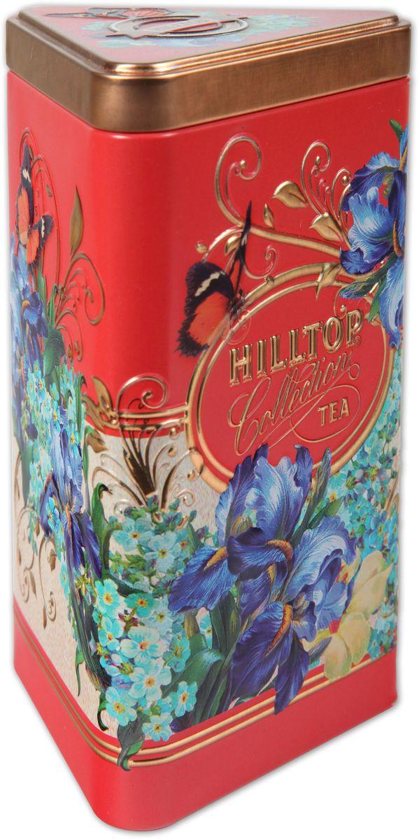 Hilltop Букет ирисов черный листовой чай, 80 г4607099303263Hilltop Букет ирисов - крупнолистовой черный чай с листьями и плодами земляники, и со вкусом свежих сливок. Классика ароматизированных чаев. Попробуйте охлажденным, с добавлением кусочков льда!