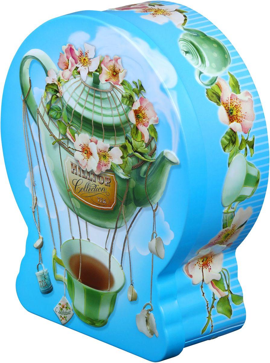 Hilltop Чайный дирижабль Чай с чабрецом черный листовой чай, 100 г101246Hilltop Чайный дирижабль - крупнолистовой цейлонский черный чай с листьями и тонизирующим ароматом чабреца. Благодаря красивой праздничной упаковке вы можете подарить этот прекрасный чай своим друзьям и близким.