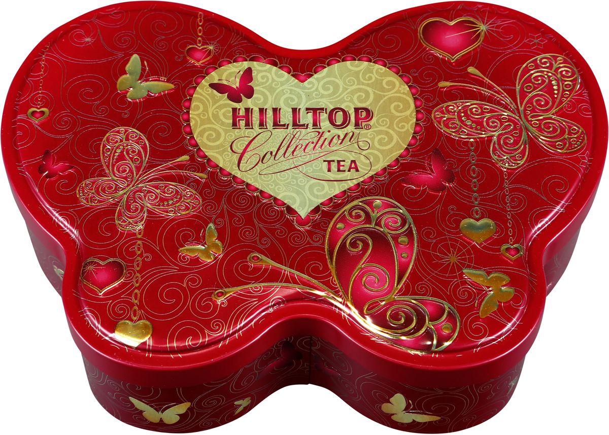 Hilltop Золотые узоры черный листовой чай, 100 г0120710Hilltop Золотые узоры - крупнолистовой цейлонский черный чай с листьями и тонизирующим ароматом чабреца. Настой с изумительным ароматом послужит великолепным дополнением к праздничному столу, а благодаря красивой праздничной упаковке вы можете подарить этот прекрасный чай своим друзьям и близким.