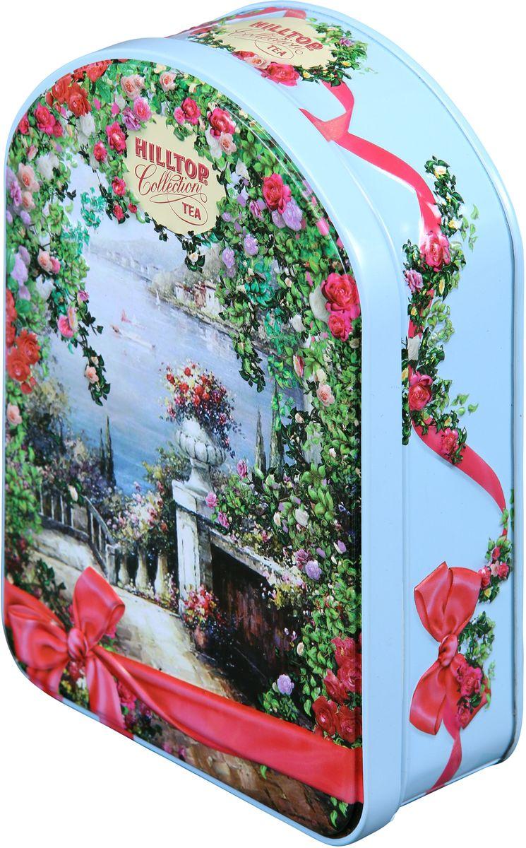 Hilltop Южный сад черный листовой чай, 100 г1143-15Hilltop Южный сад - крупнолистовой цейлонский черный чай с листьями и тонизирующим ароматом чабреца. Настой с изумительным ароматом послужит великолепным дополнением к праздничному столу, а благодаря красивой праздничной упаковке вы можете подарить этот прекрасный чай своим друзьям и близким.