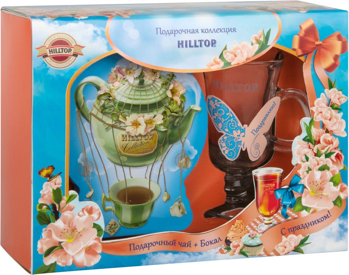 Hilltop Чайный дирижабль черный листовой чай, 100 г (подарочный набор с бокалом)13 9875Hilltop Чайный дирижабль - крупнолистовой цейлонский черный чай с листьями и тонизирующим ароматом чабреца. Набор Hilltop с бокалом станет отличным подарком друзьям или близким.