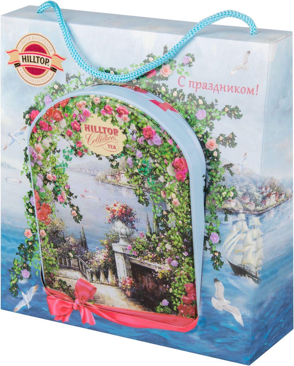 Hilltop Южный сад в футляре черный листовой чай, 100 г4610001572862Hilltop Южный сад - крупнолистовой цейлонский черный чай с листьями и тонизирующим ароматом чабреца. Настой с изумительным ароматом послужит великолепным дополнением к праздничному столу, а благодаря красивой праздничной упаковке вы можете подарить этот прекрасный чай своим друзьям и близким.