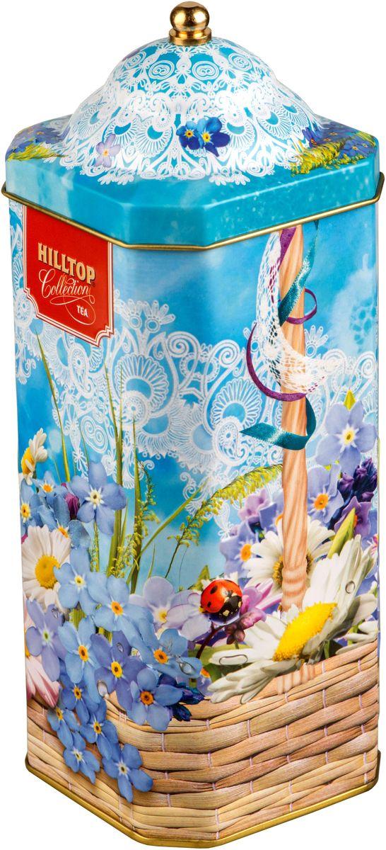 Hilltop Весенняя акварель. Цейлонский бриз черный листовой чай, 125 г4607099306301Hilltop Цейлонский бриз - крупнолистовой черный байховый чай с легкой терпкой нотой и янтарным цветом. Настой с изумительным ароматом послужит великолепным дополнением к праздничному столу, а благодаря красивой праздничной упаковке вы можете подарить этот прекрасный чай своим друзьям и близким.