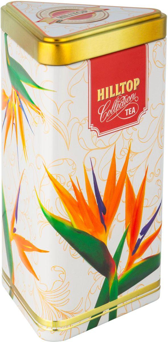 Hilltop Цветы Цейлона. Подарок Цейлона черный листовой чай, 80 г0120710Hilltop Цветы Цейлона. Подарок Цейлона - крупнолистовой цейлонский черный чай с глубоким, насыщенным вкусом и изумительным ароматом. Поставляется в треугольной банке с крышкой.