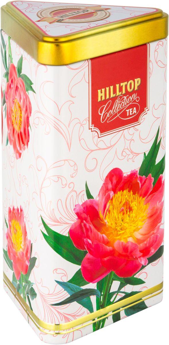 Hilltop Яркие пионы. Выбор Императора черный листовой чай, 80 г1142-15Hilltop Яркие пионы. Выбор Императора - смесь черного и зеленого чая с цветочными лепестками, цукатами и цедрой, с ароматом лесных ягод. Поставляется в треугольной банке с крышкой.