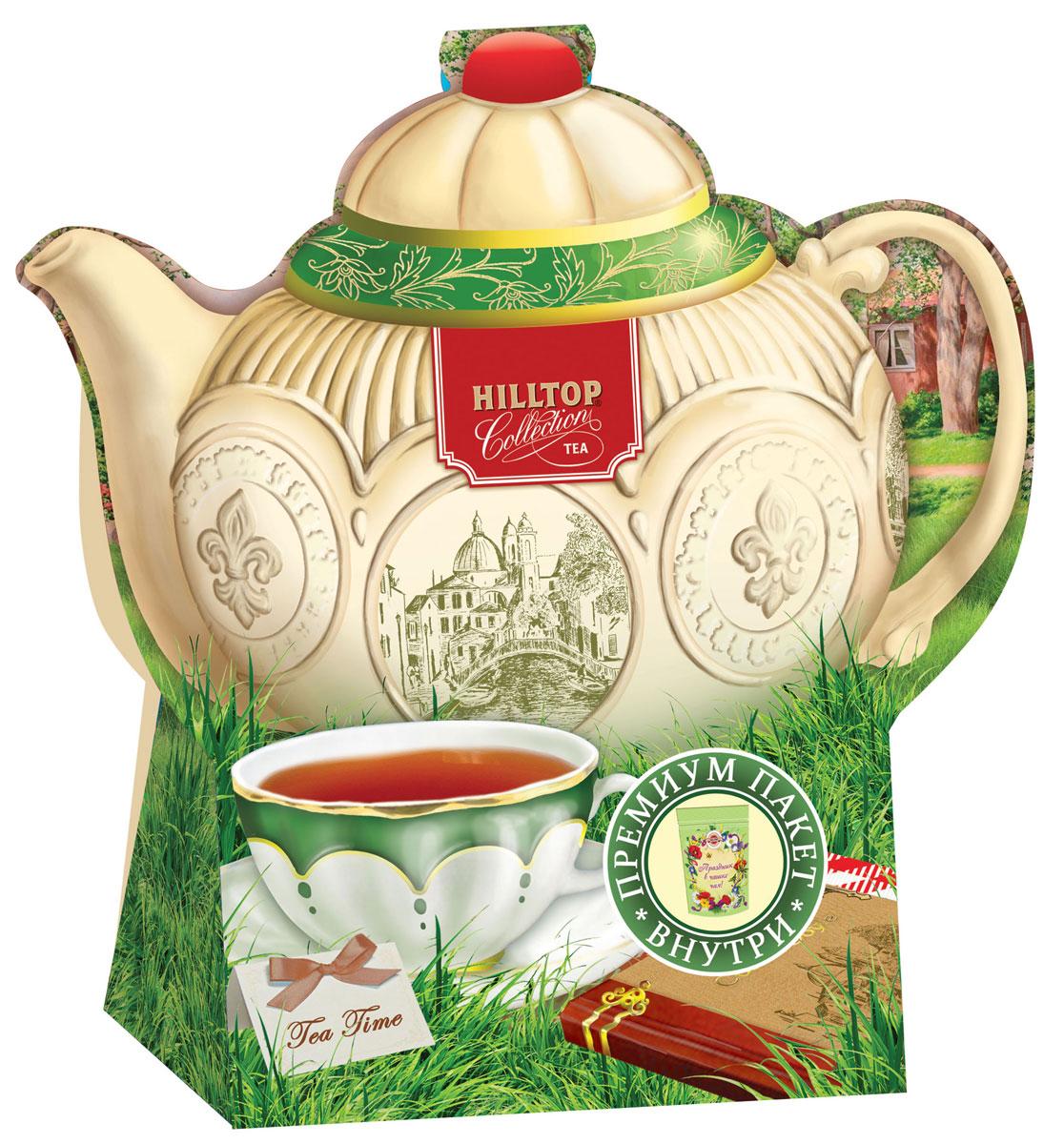 Hilltop Подарок Цейлона черный листовой чай, 80 г (чайник Английский)1524Крупнолистовой цейлонский черный чай Hilltop Подарок Цейлона с глубоким, насыщенным вкусом и изумительным ароматом. Благодаря красивой праздничной упаковке вы можете подарить этот прекрасный чай своим друзьям и близким.