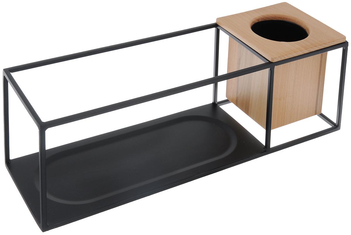 Полка-органайзер Umbra Cubist, 38 х 11,5 х 11,5 смTD 0273Полка-органайзер Umbra Cubist выполнена из металла. Легкий каркас изделия создает эффект невесомости, вещи будто парят в воздухе. Деревянный кубический контейнер отлично дополняет композицию: он может служить подставкой для канцелярских мелочей или кашпо для цветов. Полку можно поставить на стол или повесить на стену (крепления в комплекте). Выдерживает до 6,8 кг. Размеры контейнера: 11,5 х 11 х 10 см.