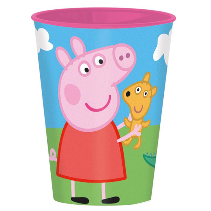Peppa Pig Стакан детский Свинка Пеппа52807Стакан детский Peppa Pig Свинка Пеппа - яркий красочный стаканчик с изображением популярных мультяшных героев Свинка Пеппа.