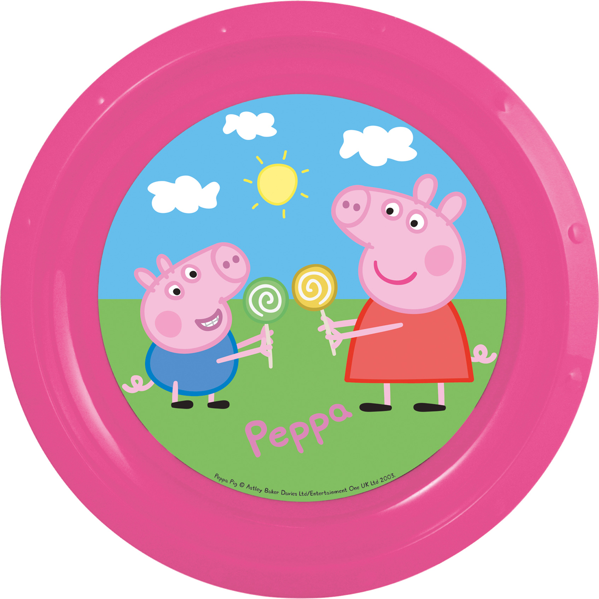 Peppa Pig Тарелка детская Свинка Пеппа115510Тарелка детская Свинка Пеппа диаметром 21,5 см.