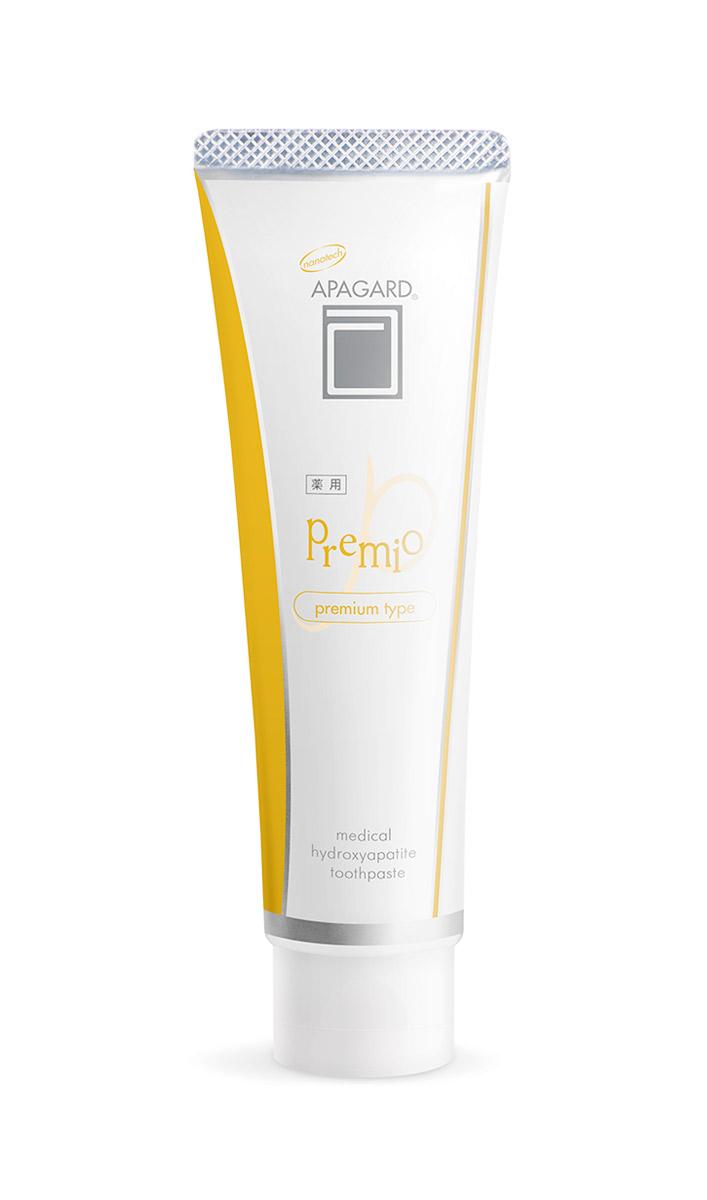 Apagard Отбеливающая зубная паста с наногидроксиапатитом Premio, 100 гSatin Hair 7 BR730MNВысокоэффективная отбеливающая зубная паста с нано-гидроксиапатитом Apagard Premio. • Содержит в 1,4 раза большую концентрацию nano-mHAP, по сравнению с другими пастами Apagard • Эффективно отбеливает и восстанавливает эмаль зубов • Зубная паста Apagard Premio Активно борется с кариесом на ранних стадиях возникновения • ?-глицирризиновая кислота – оказывает активное противовоспалительное и антимикробное действие • Кремниевый ангидрид – бережно очищает и полирует эмаль зубов • Гидроортофосфат кальция - эффективно удаляет никотиновый налет с поверхности зубов, очищает зубную эмаль от темного налета кофе и чая • Поливинилпирролидон – препятствует окрашиванию эмали, безопасен для организма • Цетилпиридиния хлорид – активно увлажняет слизистую оболочку полости рта, оказывает противовоспалительное и бактерицидное действие • Не содержит фторидов и парабенов • Не содержит искусственных красителей