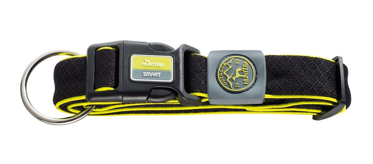 Ошейник для собак Hunter Smart Maui XL, цвет: черный, 48-75 см0120710Ошейник для собак Hunter Maui выполнен из невероятно мягкого и легкого сетчатого текстиля. Регулируется по размеру в широком диапазоне. Застегивается на пластиковый карабин, имеет металлическое кольцо для поводка. Обхват шеи: 48-75 см. Ширина ошейника: 5,5 см.